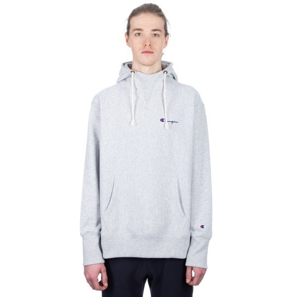 Champion Reverse Weave Deconstructed Pullover Hooded Sweatshirt (Light Oxford Grey)
