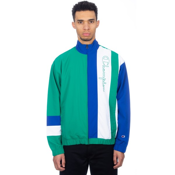 Champion Reverse Weave Full Zip Track Top (Green/Blue/White)