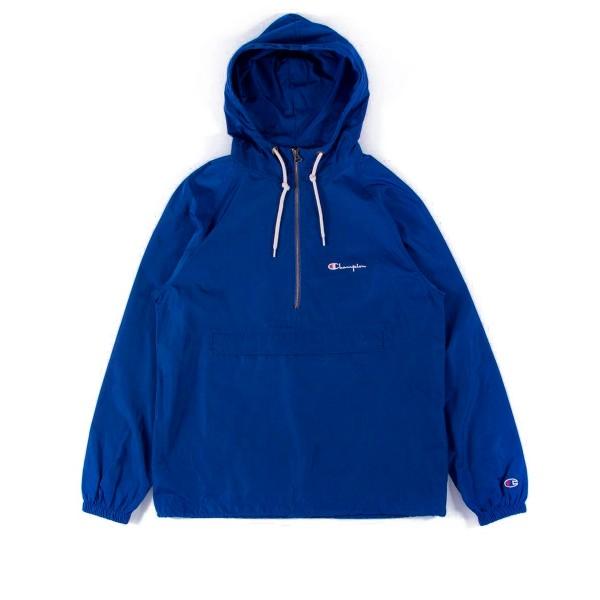 Champion Reverse Weave Half-Zip Through Hooded Jacket (Dark Blue)