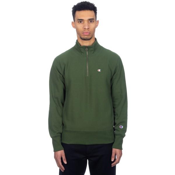 Champion Reverse Weave Half Zip-Through Turtleneck Sweatshirt (Forest Green)