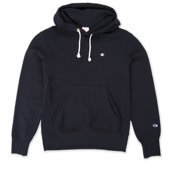Champion Reverse Weave Pullover Hooded Sweatshirt (Black)