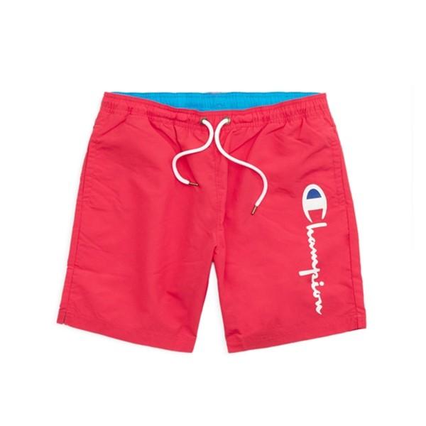 Champion Reverse Weave Script Beach Short (Hot Pink/Light Blue)