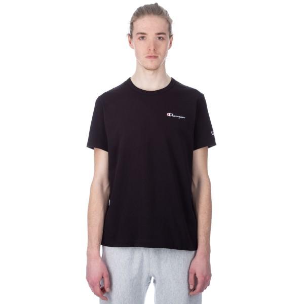 Champion Reverse Weave Small Script Crew Neck T-Shirt (Black)