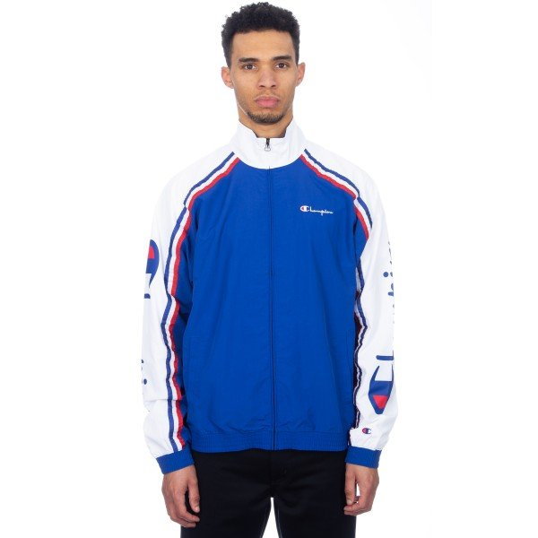 Champion Reverse Weave Zip-Through Striped Track Jacket (Nautical Blue)