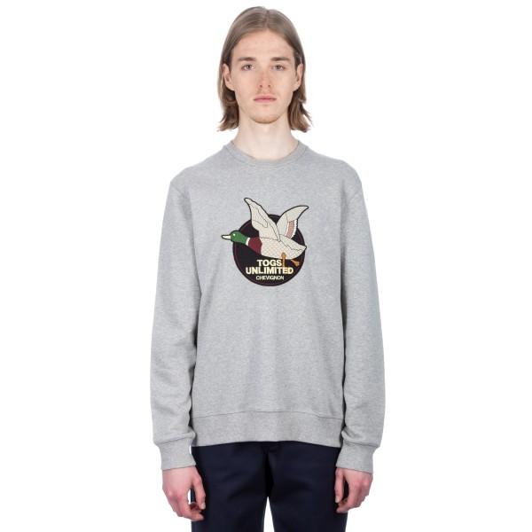Chevignon Togs Unlimited Crew Neck Sweatshirt (Heather Grey)