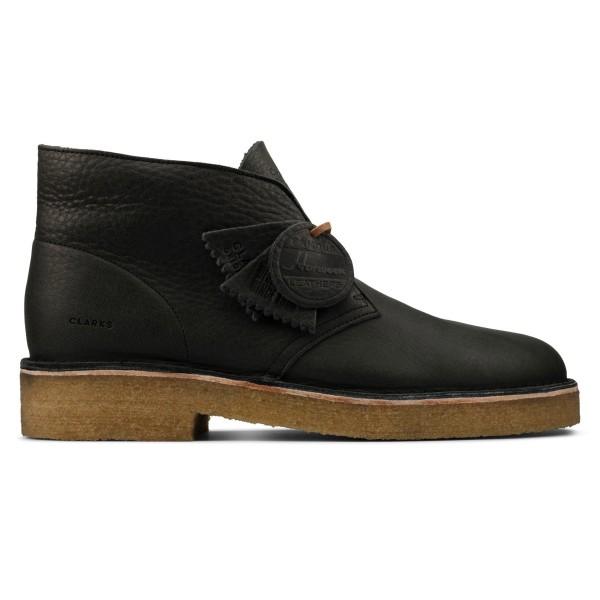 Clarks Originals Desert Boot 221 (Black Natural Leather)