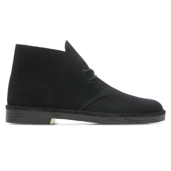 Clarks Originals Desert Boot (Black Suede)