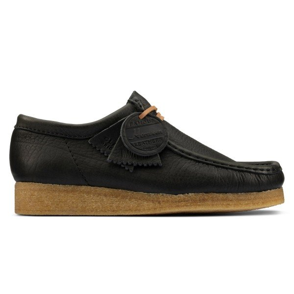 Clarks Originals Wallabee (Black Natural Leather)