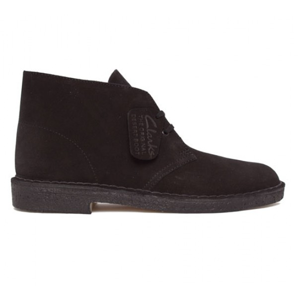 Clarks Originals Desert Boot (Black Suede)