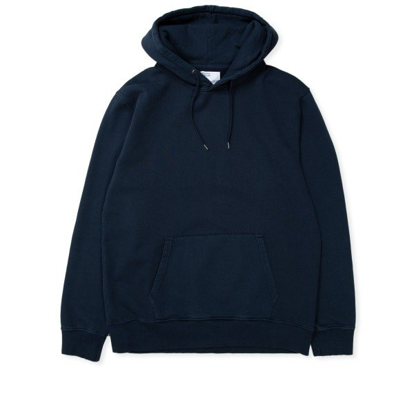 Colorful Standard Classic Organic Pullover Hooded Sweatshirt (Navy Blue)
