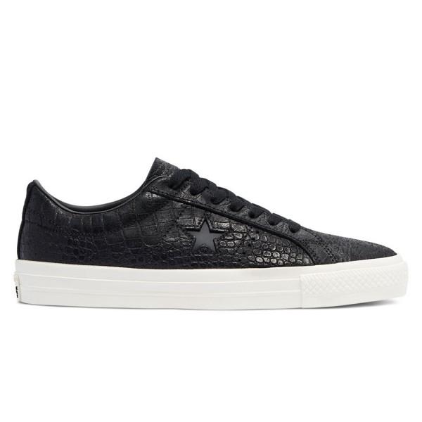 Converse Cons One Star Pro Croc Emboss OX (Black/Egret/Gum Honey)