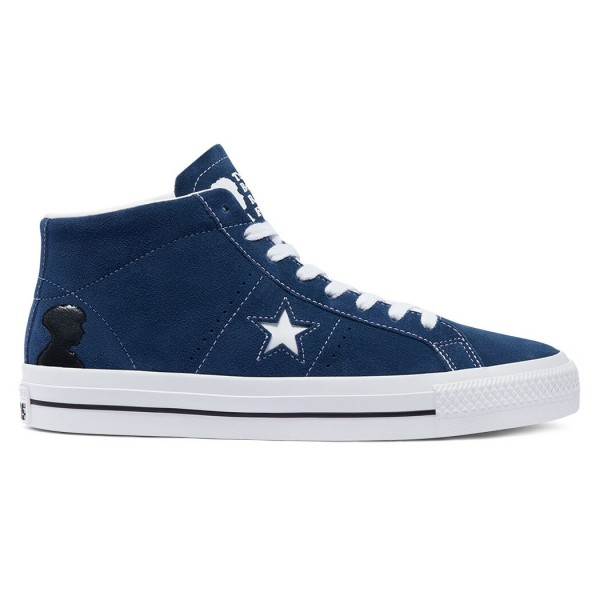 Converse Cons One Star Pro Mid 'Ben Raemers Foundation' (Navy/White/Black)