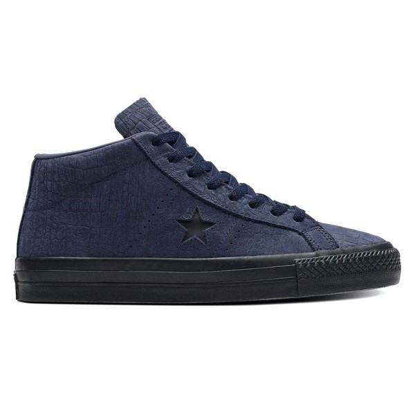 Converse Cons One Star Pro Mid (Obsidian/Hyper Pink/Black)