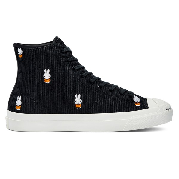 Converse Cons x POP Trading Company Jack Purcell Pro Hi 'Miffy' (Black/White/Egret)