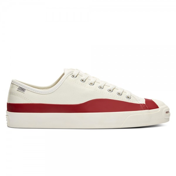 Converse Cons x POP Trading Jack Purcell Pro (Egret/Red Dahlia/Egret)
