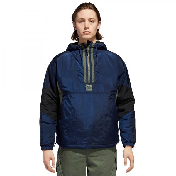 adidas Skateboarding Anorak Puffy Jacket (Collegiate Navy/Black/Base Green)