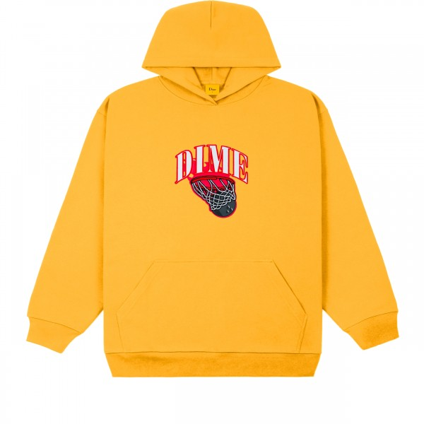 Dime Basketbowl Patch Pullover Hooded Sweatshirt (Dark Yellow)