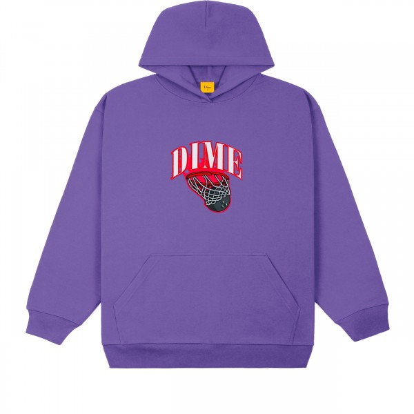 Dime Basketbowl Patch Pullover Hooded Sweatshirt (Iris)