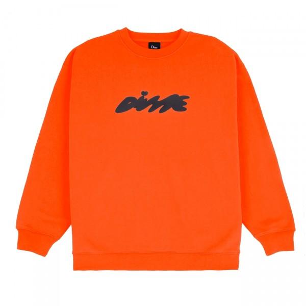 Dime Bubbly Crew Neck Sweatshirt (Bright Red)