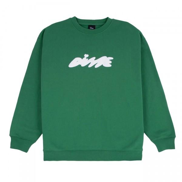 Dime Bubbly Crew Neck Sweatshirt (Green)