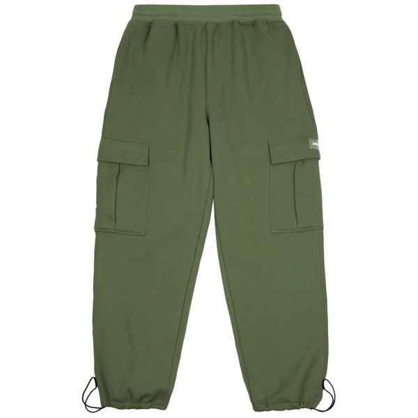 Dime Cargo Sweat Pants (Military Green)