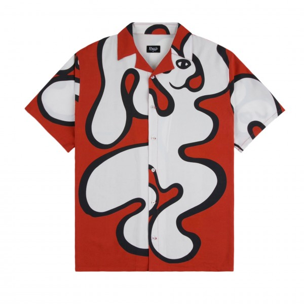 Dime Chilling Rayon Shirt (Red)