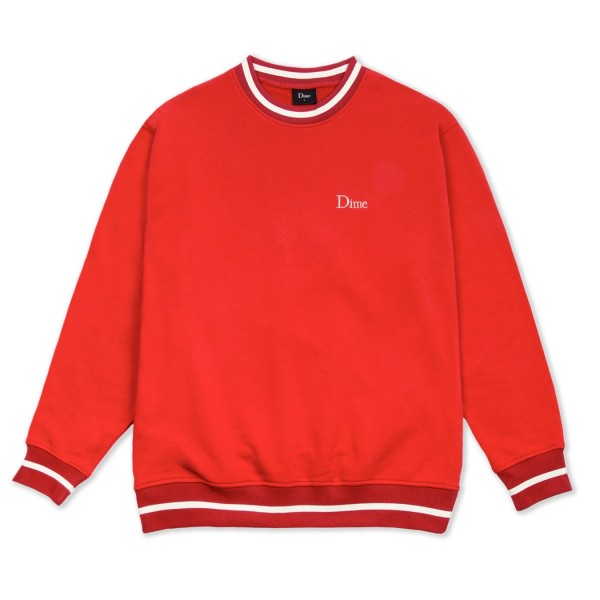 Dime Classic French Terry Crew Neck Sweatshirt (Red)