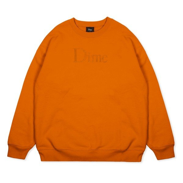Dime Classic Logo Crew Neck Sweatshirt (Orange)