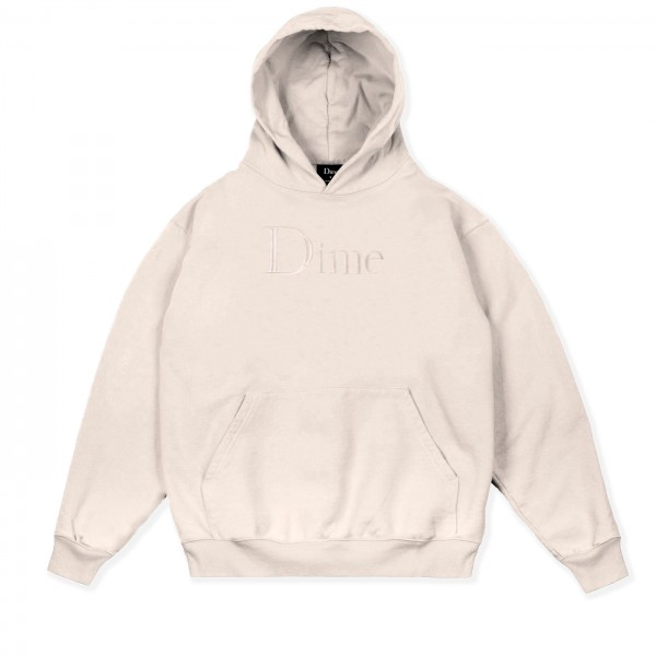 Dime Classic Logo Embroidered Pullover Hooded Sweatshirt (Cream)
