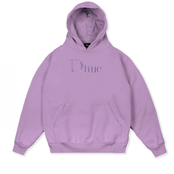Dime Classic Logo Embroidered Pullover Hooded Sweatshirt (Lilac)