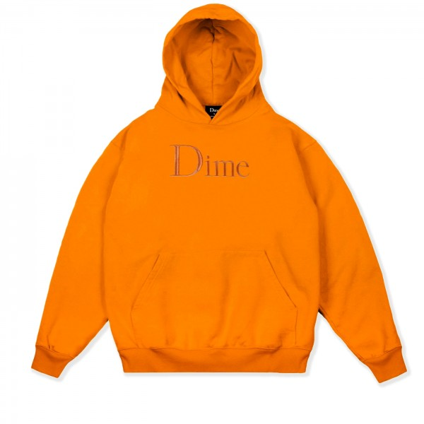 Dime Classic Logo Embroidered Pullover Hooded Sweatshirt (Orange)