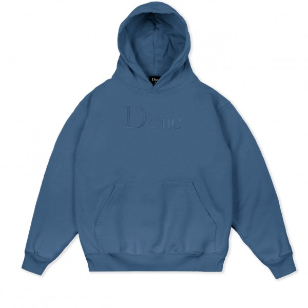 Dime Classic Logo Embroidered Pullover Hooded Sweatshirt (Slate)
