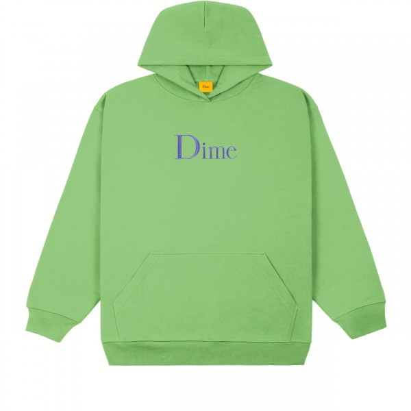 Dime Classic Logo Embroidered Pullover Hooded Sweatshirt (Tea)