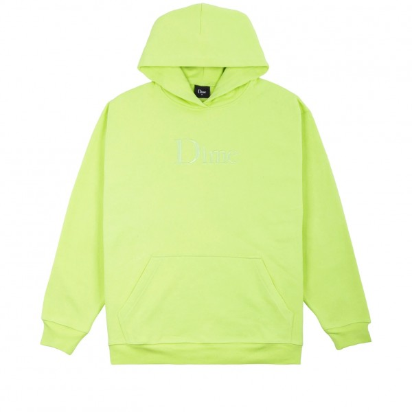 Dime Classic Logo Embroidered Pullover Hooded Sweatshirt (Volt)