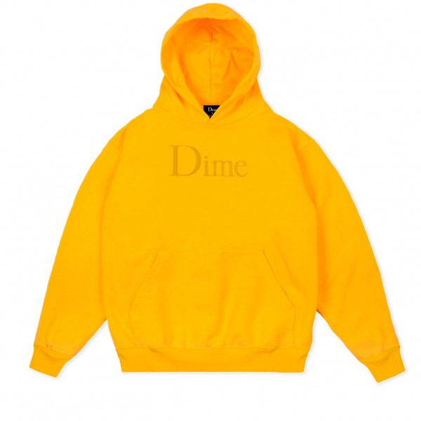 Dime Classic Logo Embroidered Pullover Hooded Sweatshirt (Yellow)