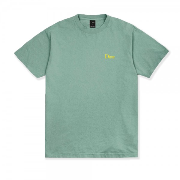 Dime Classic Logo Embroidered T-Shirt (Atlantic Green)