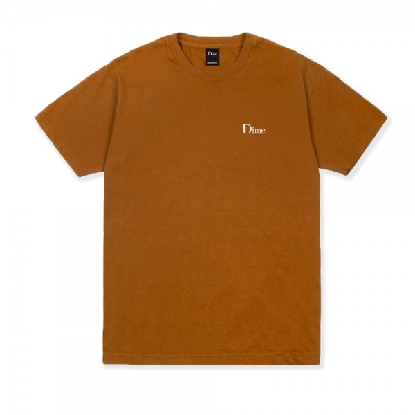 Dime Classic Logo Embroidered T-Shirt (Coffee)