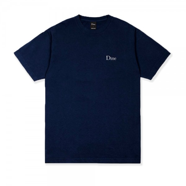 Dime Classic Logo Embroidered T-Shirt (Navy)