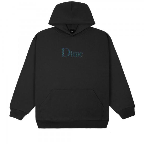 Dime Classic Plaid Pullover Hooded Sweatshirt (Black)