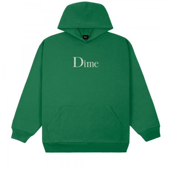 Dime Classic Plaid Pullover Hooded Sweatshirt (Green)