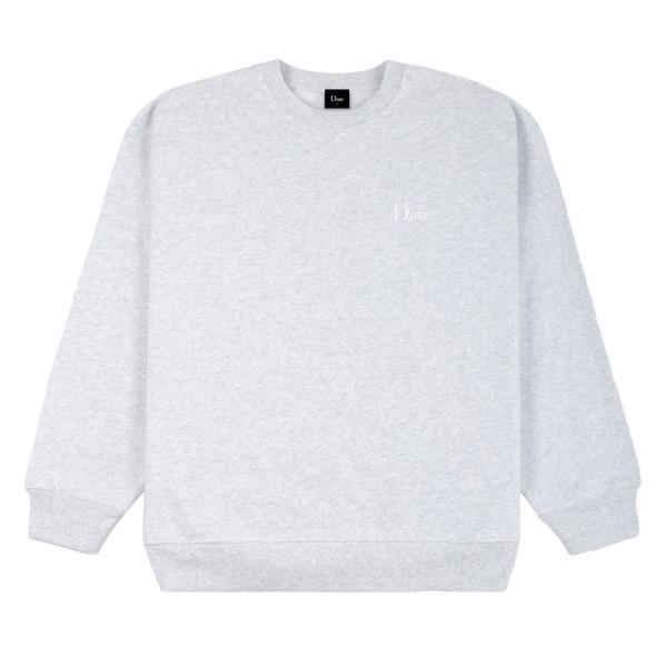 Dime Classic Small Logo Embroidered Crew Neck Sweatshirt (Ash)