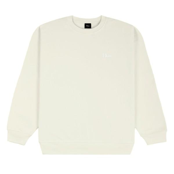 Dime Classic Small Logo Embroidered Crew Neck Sweatshirt (Cream)