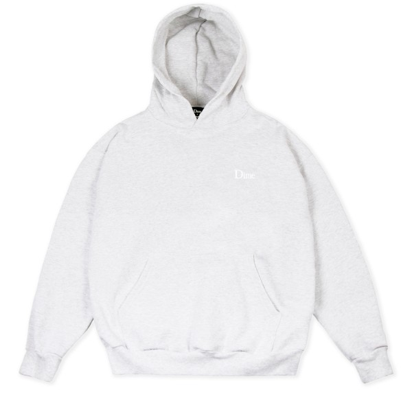 Dime Classic Small Logo Embroidered Pullover Hooded Sweatshirt (Ash)