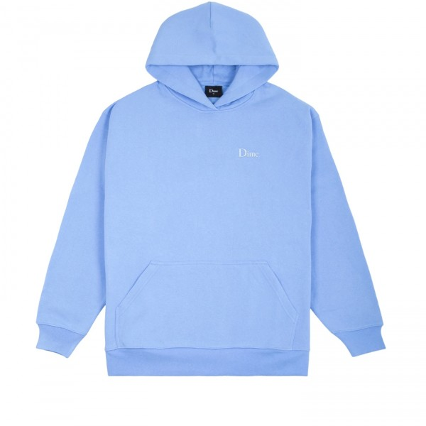 Dime Classic Small Logo Embroidered Pullover Hooded Sweatshirt (Carolina Blue)