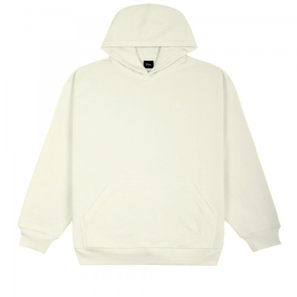 Dime Classic Small Logo Embroidered Pullover Hooded Sweatshirt (Cream)