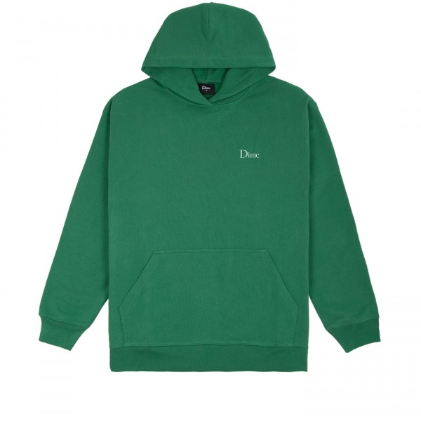 Dime Classic Small Logo Embroidered Pullover Hooded Sweatshirt (Green)