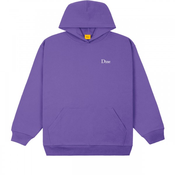 Dime Classic Small Logo Embroidered Pullover Hooded Sweatshirt (Iris)