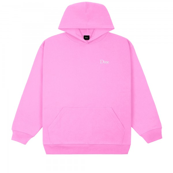 Dime Classic Small Logo Embroidered Pullover Hooded Sweatshirt (Light Pink)