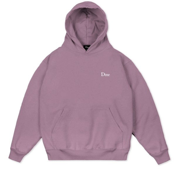 Dime Classic Small Logo Embroidered Pullover Hooded Sweatshirt (Mauve)