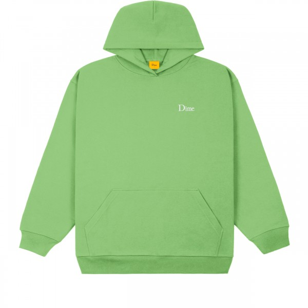 Dime Classic Small Logo Embroidered Pullover Hooded Sweatshirt (Tea)